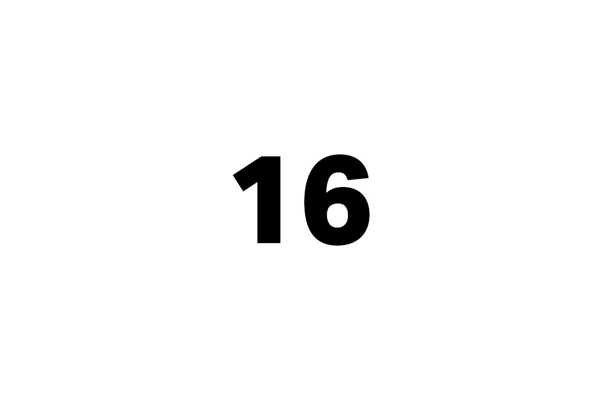 šestnáct