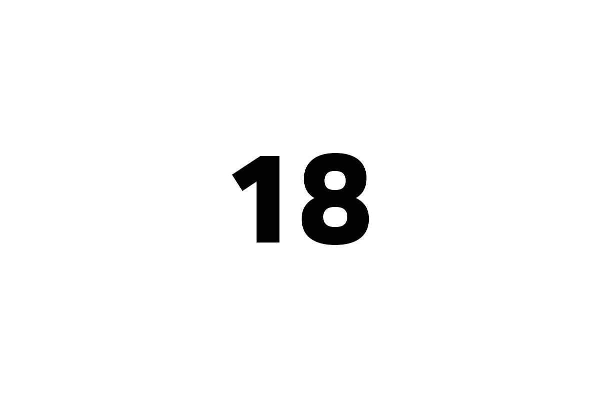 osmnáct