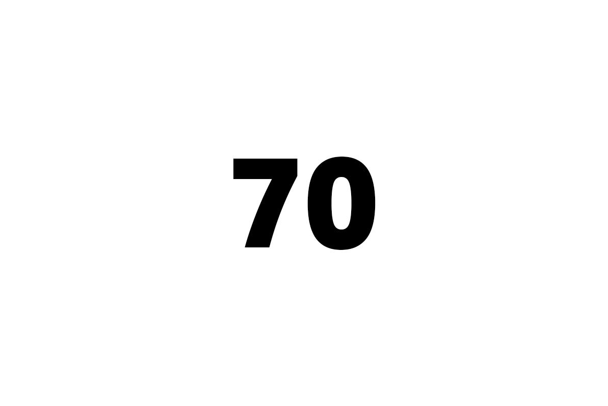 sedmdesát