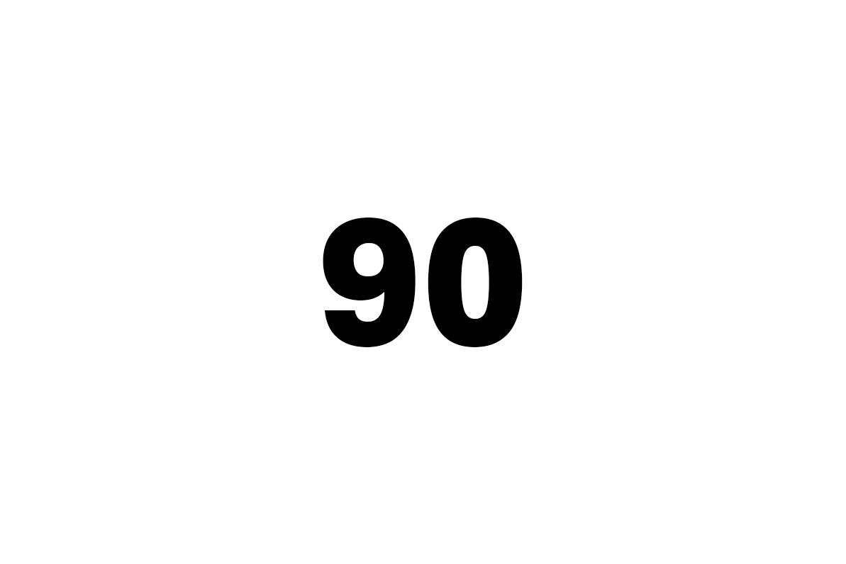devadesát